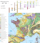 Carte géologique simplifiée de la France (Europe geological map © Eric Gaba) -  voir en grand cette image""